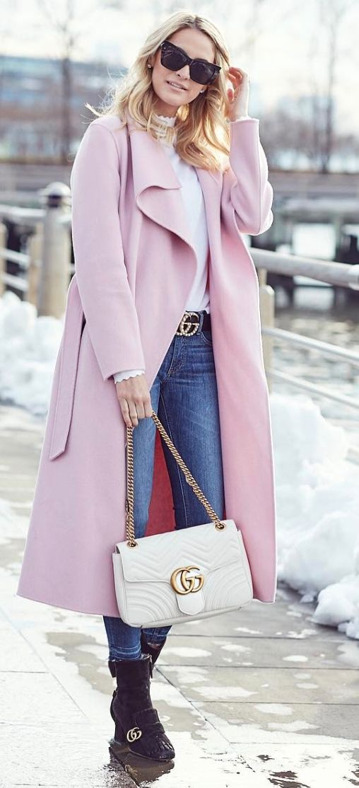 96 best Pink coat outfits images on Pinterest | Pink coats, Blush ...
