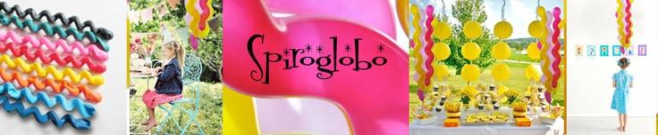 Spiroglobos / Spiral latex balloons.  www.globosdeluz.com