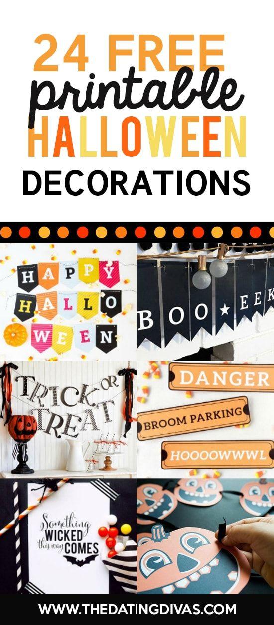101 FREE Halloween Printables Free halloween printables and Free - print halloween decorations
