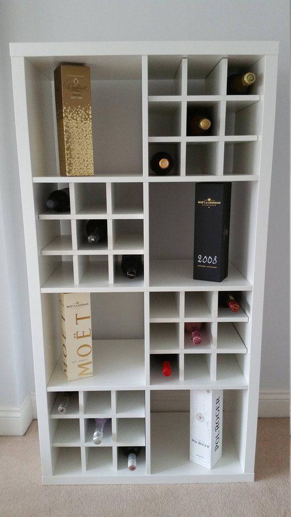 Insertion Du Panier A Vin Pour Ikea Kallax Rangement Expedit Etsy Kallax Ikea Cube Storage Decor Ikea Wine Rack