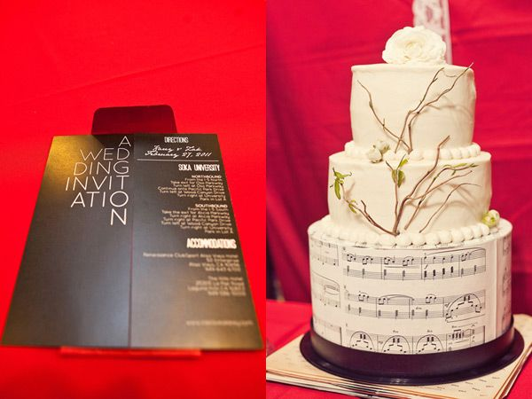 Musical ~ Grooms cake's lower layer could be covered w/ sheet music!