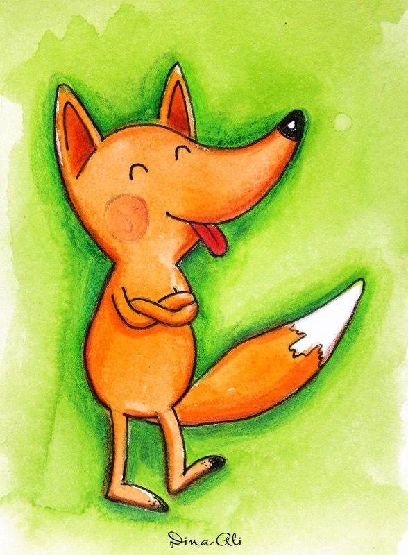 Прикольные рисованные картинки лисы, свадьба сделать открытку