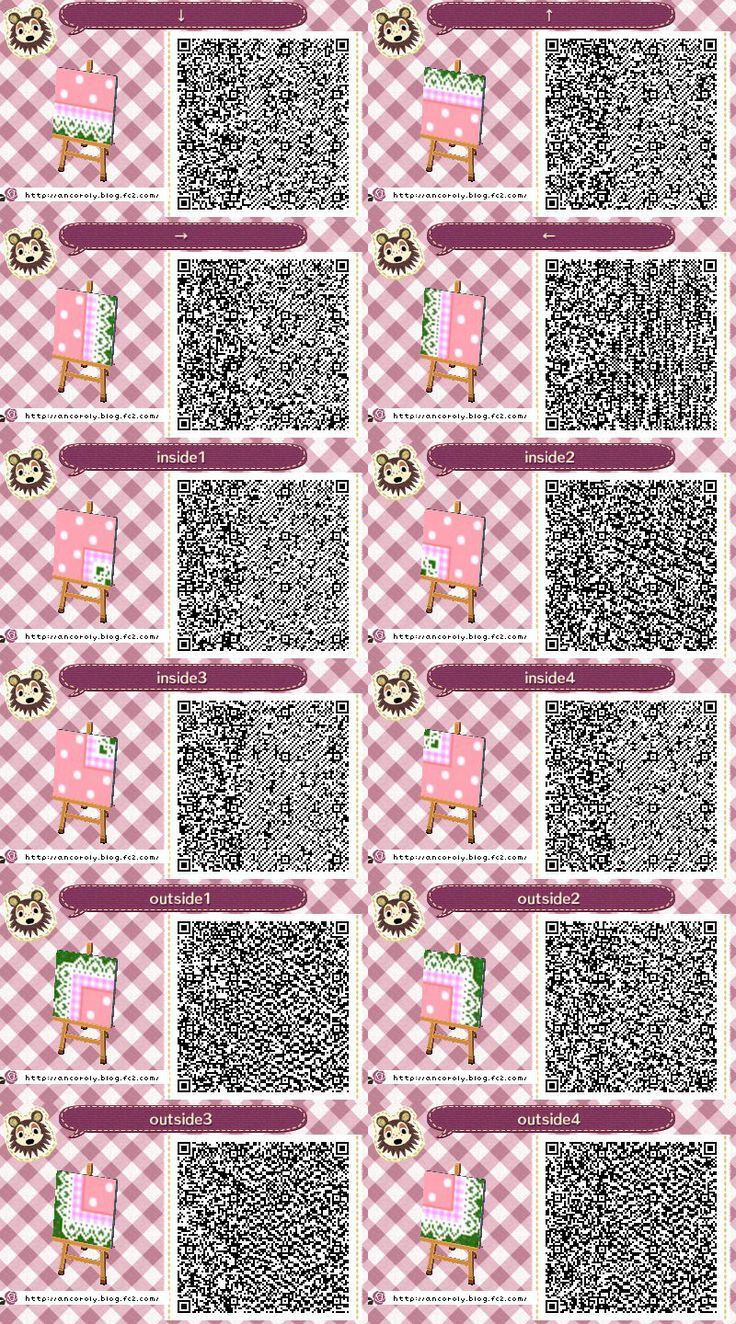 Lacy pink dotty path acnl paths pinterest qr codes for Acnl boden qr codes