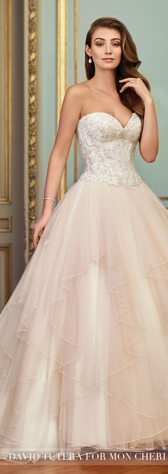Wedding Dress by David Tutera for Mon Cheri 2017 Bridal Collection | Style No. » 117266 Aurinda