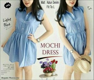 Mochi Dress Denim MTFA04