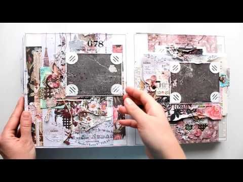 (145) Scrapbooking Album by Elena Morgun | Prima Marketing Ink - Rossi Belle Сollection - YouTube