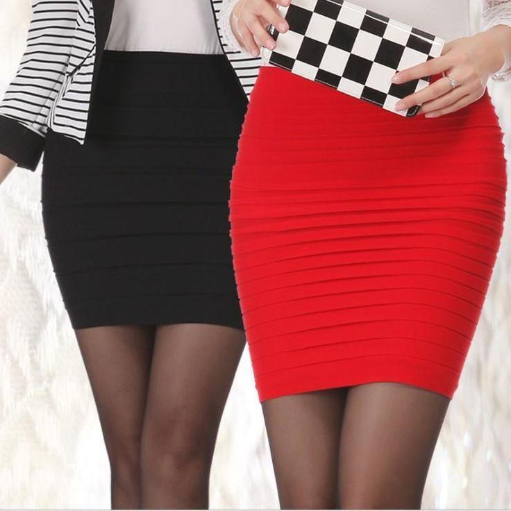 Women's Sexy MINI SKIRT Slim Stretch Tight Short Fitted Pleated skirt #MiniSkirt #Mini