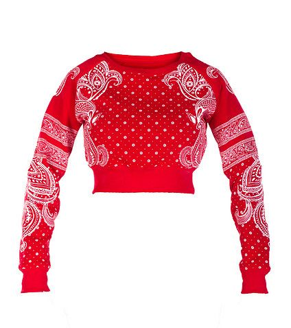 ESSENTIALS PRINTED BANDANA PRINT FLEECE SWEATSHIRT-IEpR9aTA