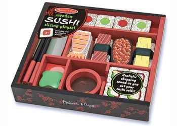 Melissa & Doug Sushi Slicing Set. Hours of fun!!! For more information follow the link belo whttp://www.shellstreasures.com.au/#!product/prd1/1339000261/melissa-%26-doug-sushi-slicing-play-set