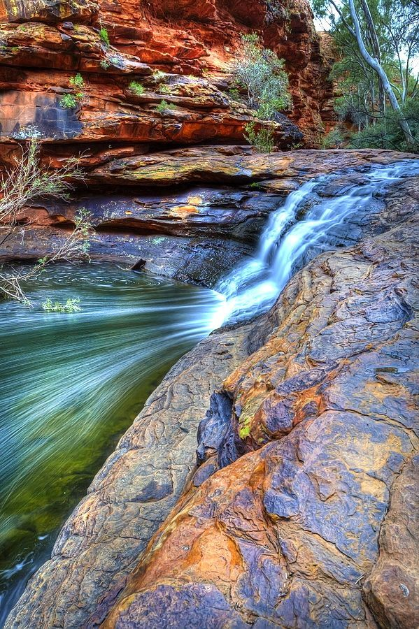 Waterfall at Kings Canyon, Northern Territory, - Outback Australia