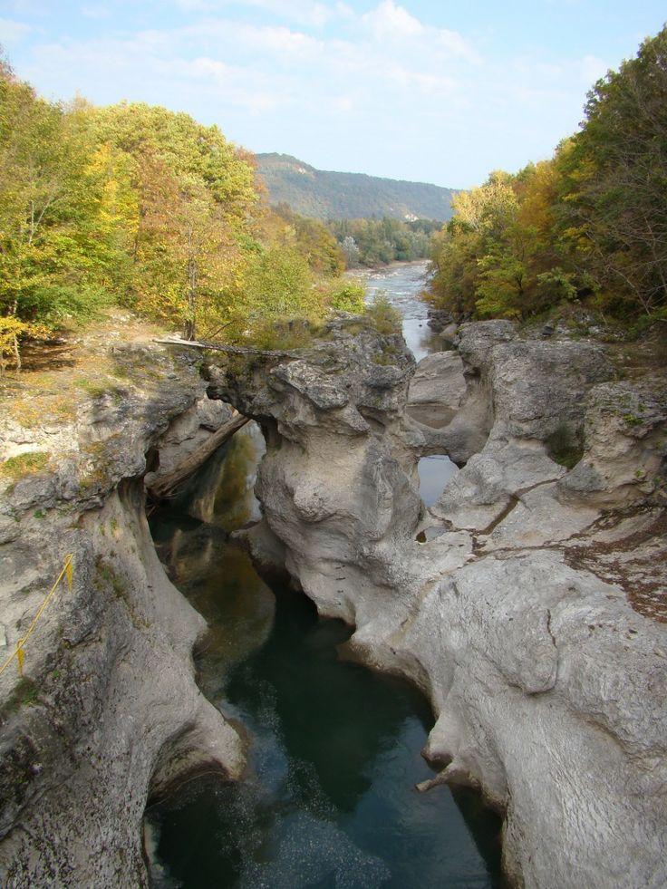 река Белая, Хаджохская теснина. Belaya river, Khadzhokh ravine.