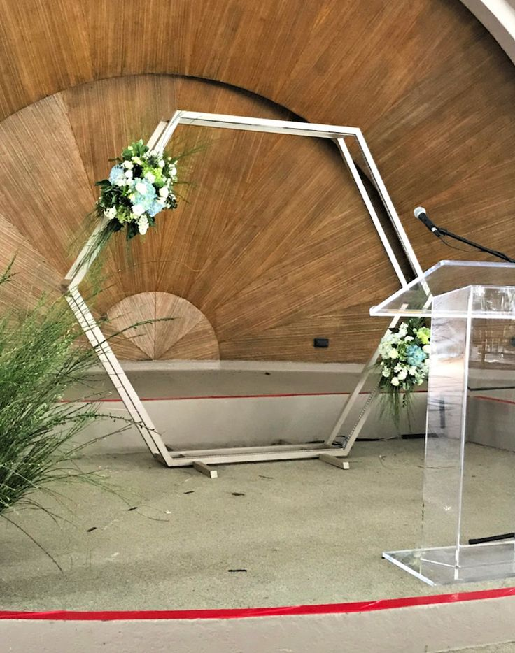 Do it Yourself Hexagon Backdrop Fit for a Wedding