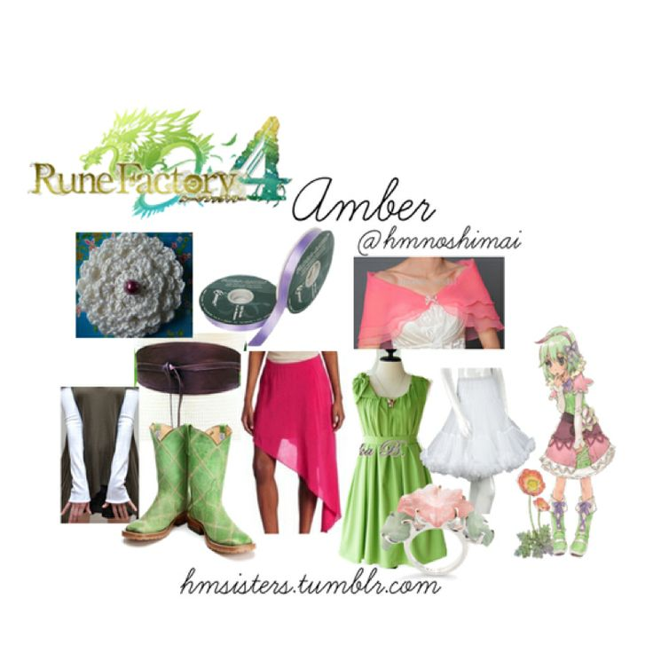 Rune factory 4 amber on polyvore by hmsisters/hmnoshimai