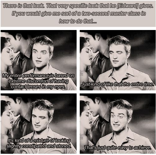 I hate Twilight, but Robert Pattinson is really funny!