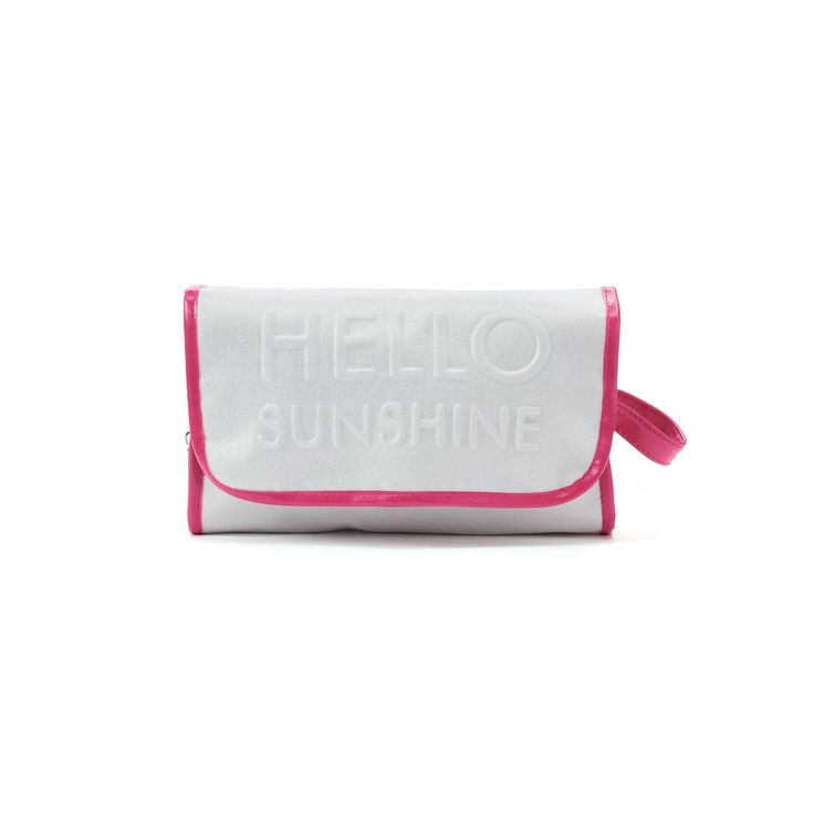 "Mirror Mirror ""Hello Sunshine"" Hanging Cosmetic Bag, Ovrfl Oth"