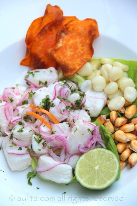 Cebiche al estilo peruano - Recetas en Español