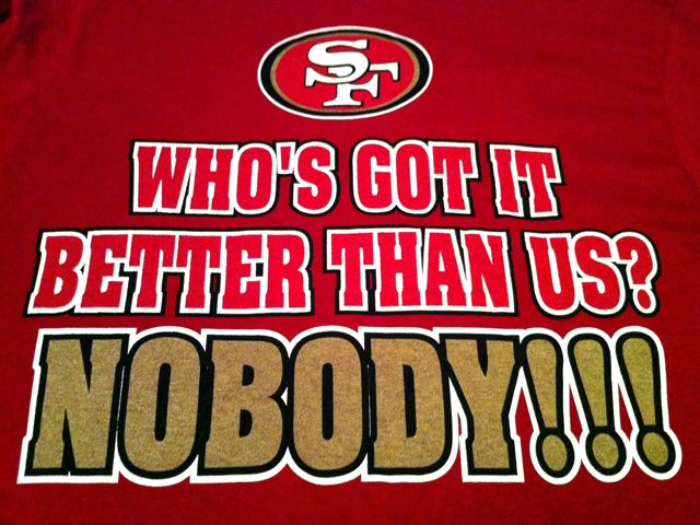 The 49ers and jim harbaugh slogan akwAys repeated during their motivational talks and after big games.#rebuildingmylife