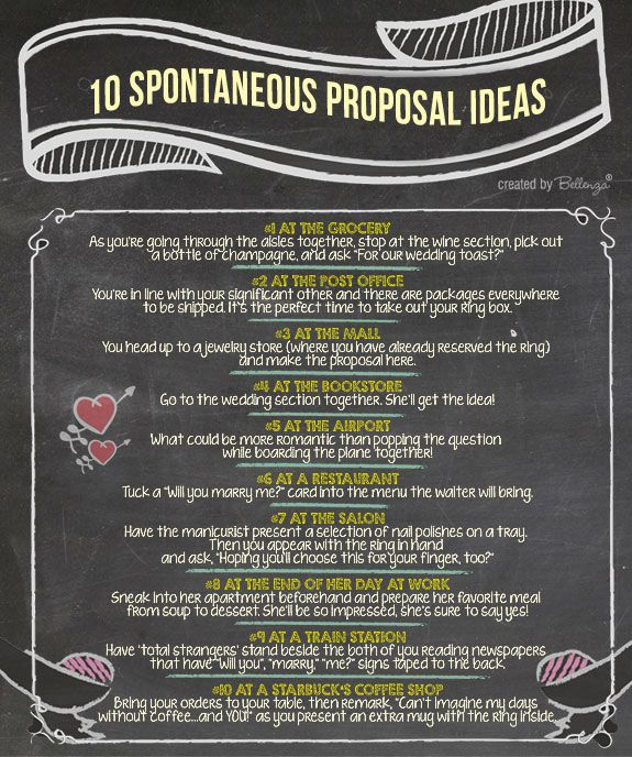 10 Proposal Ideas Infographic For Making It Perfectly Spontaneous Creative IdeasWedding