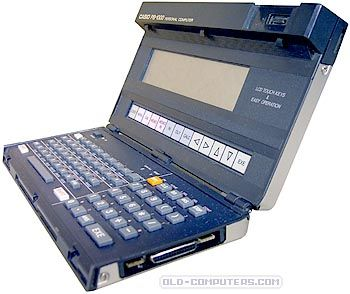 The Casio PB-1000 was an original, well designed and powerful pocket computer for its time. On top of its standard QWERTY keyboard, a row of sensitive keys allowed fast scientific calculations, menus access and text editing. The 4-line LCD display also had 16 sensitive areas.