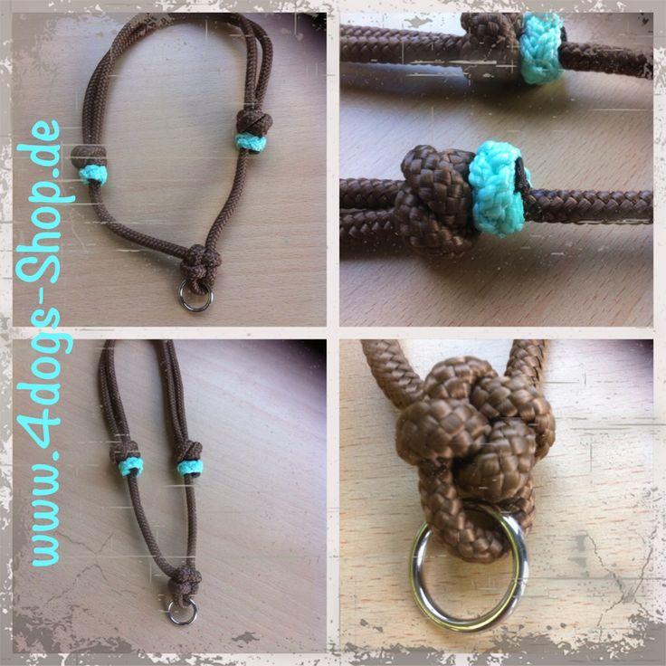 Light dog collar for dog tag. Diy  Www.knoten-Halfter.blogspot.de