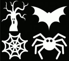 Great roundup of some free Halloween cut files!
