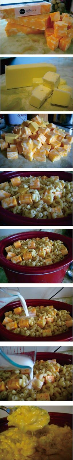 Crock Pot Mac and Cheese - I found this recipe online, and was hesitant to try it. I don't always like cooking crock pot recipes that contain pasta, because the few times I have tried, the pasta came out gummy.
