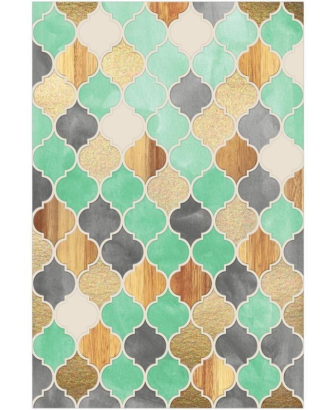 Textured Moroccan Pattern En Papier Peint Par Micklyn Le