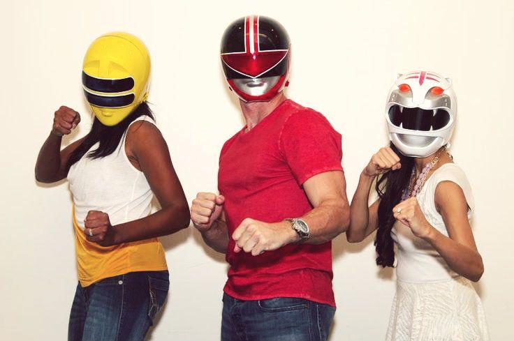Nakia Burrise, Jason Faunt, and Jessica Rey reprising their respective Ranger roles