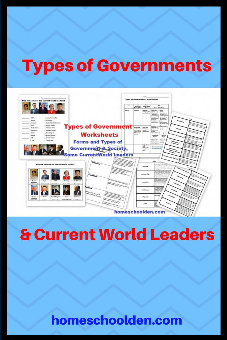 Types Of Governments Worksheets World Leaders Currently Free