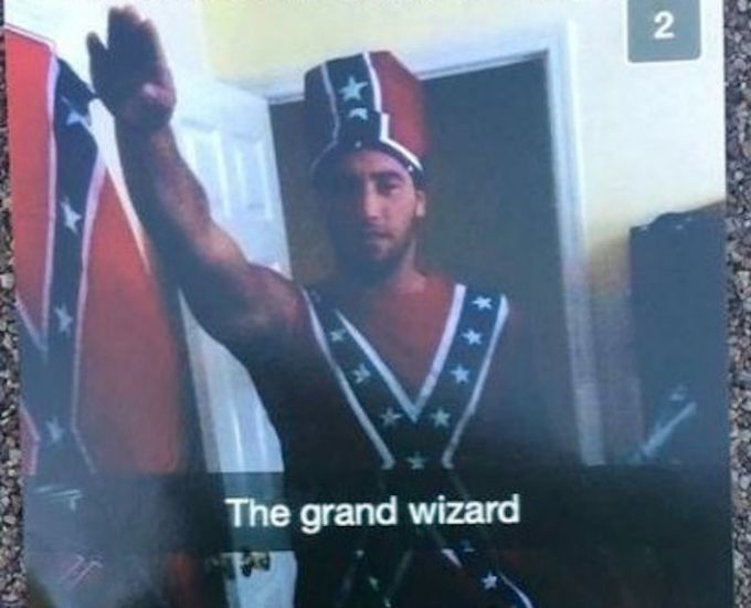College Football Player Wears Confederate Flag Outfit, Gives Nazi Salute in Snapchat Photo | Complex