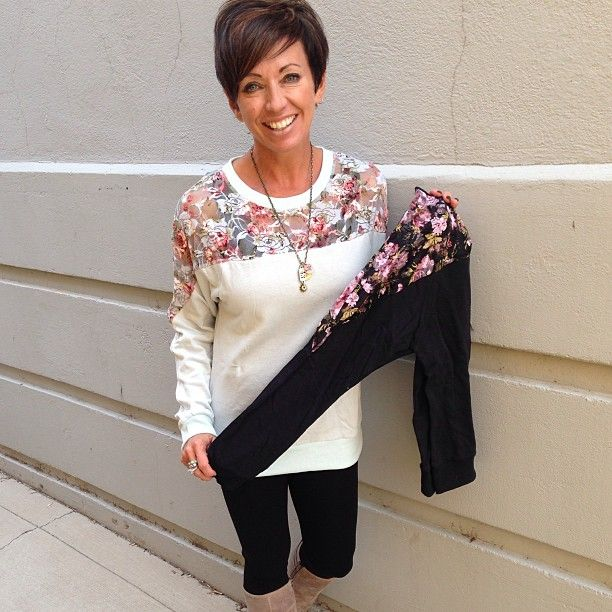 floral sweaters♥ #karmaboutiqueonmain