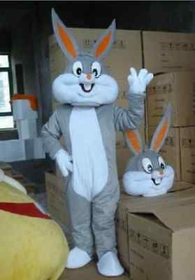 A+++++ New Easter Bugs Bunny Rabbit Adult cartoon mascot Costume Adult size