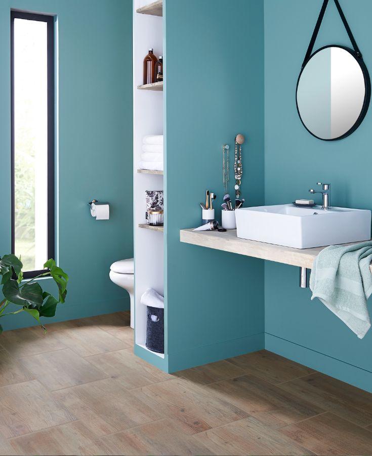 Peinture salle de bains GoodHome vert Kilkenny satin 2,5L (avec images)   Idées salle de bain ...