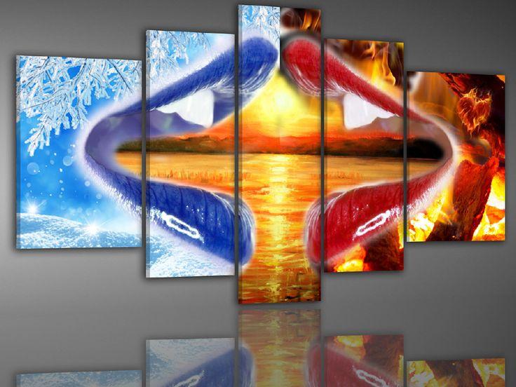 nr 240 Abstract Lippen Sunset | Artikel 201-250 | Canvasxxlshop