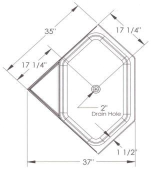 Corner tub dimensions design help pinterest simple for Garden tub dimensions