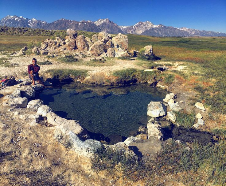 Wild Willy's heart shaped hot spring in Mammoth CA