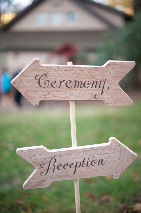 Wood Wedding Directional Sign