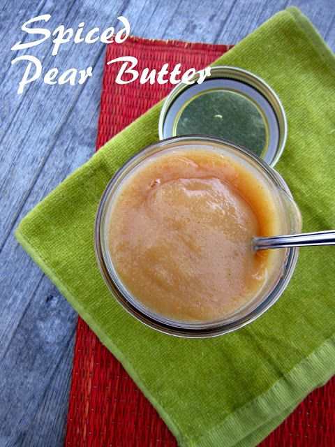 Spiced Pear Butter | Recipes: Dips, Dressings, Frostings, Icings, Spr ...