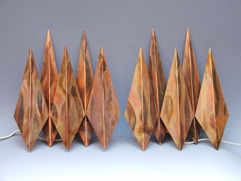 Simon Henningsen, wall lamps for Lyfa, 1960's.