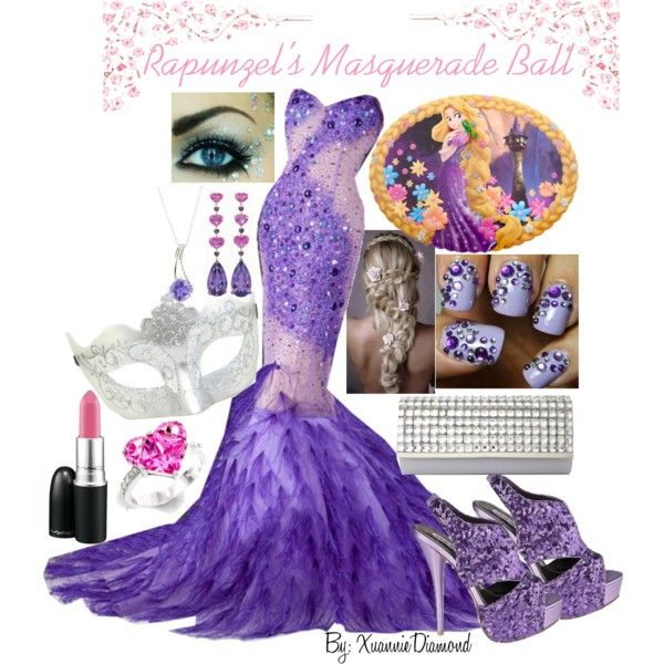 """""""Rapunzel's Masquerade Ball"""" by xuanniediamond on Polyvore...... Not sure I agree"""
