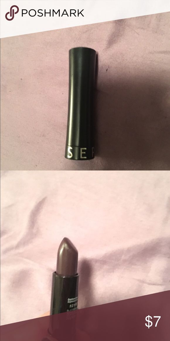 Sephora lipstick in burgundy color Barely used sephora brand lipstick! Sephora Makeup Lipstick