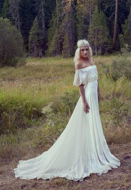 Cool hippie chic wedding dress 2017-2018