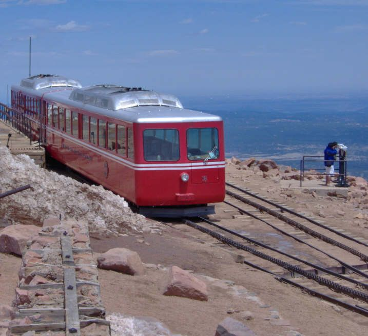 Pikes Peak Train Ride - Fabulous view from the mountain top.