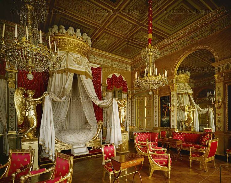 PERIOD:EMPIRE INTERIORS:ALL 19TH  Bedroom of Marie-Louise, seond wife of Napoleon I. Furniture by Jacob Desmalter; 1809  Musee National du Chateau, Compiegne, France