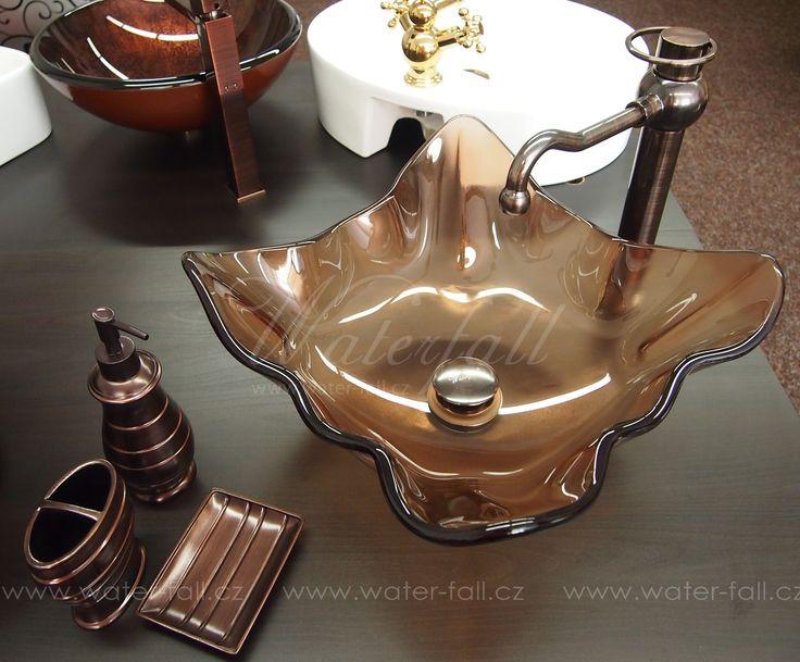 hneda koupelna, umyvadlo, baterie a doplnky http://www.waterfall-products.cz/n/hneda-koupelna