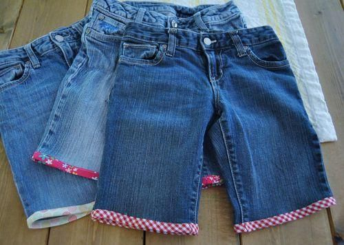 DIY Clothes Refashion : DIY jeans to shorts