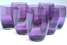 beautiful purple glassware
