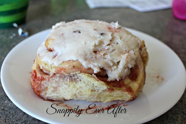 Snappily Ever After: Strawberry Sweet Rolls with Pecan and Honey Cream Cheese Frosting