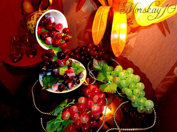 "Чашка проливашка ""Виноградная"" от Morskay10"