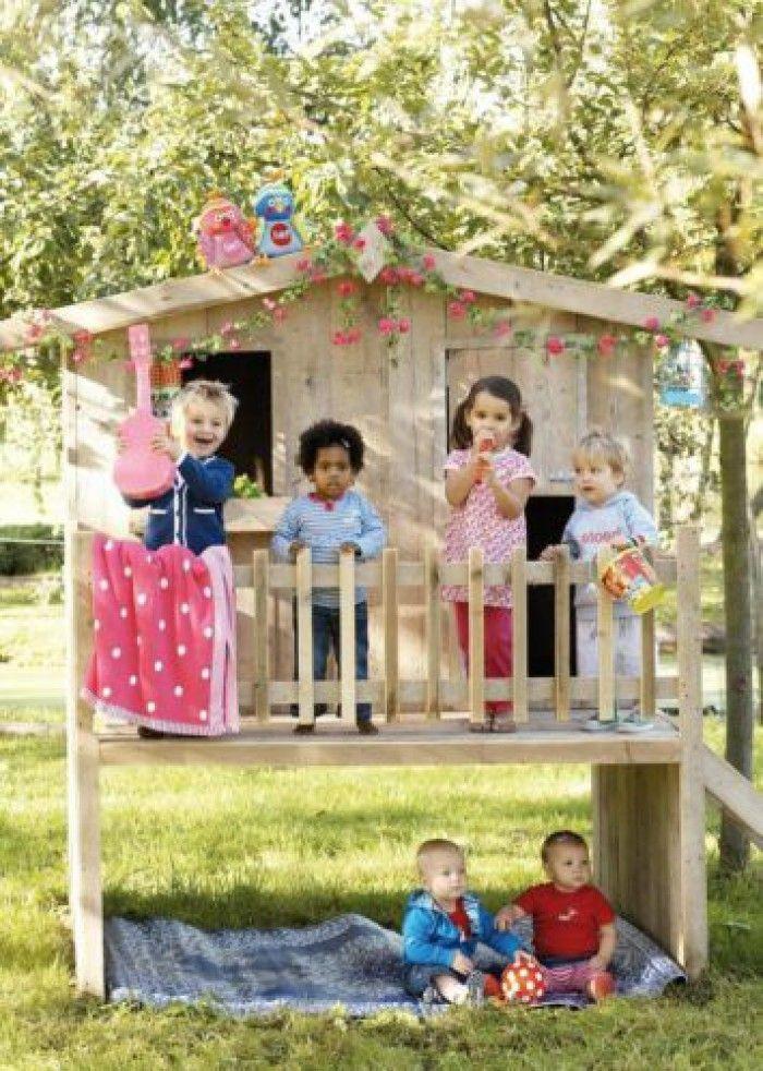 Super leuk huisje i.p.v. een lelijk plastic speeltoestel in je tuin!